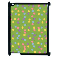 Balloon Grass Party Green Purple Apple Ipad 2 Case (black) by BangZart