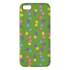 Balloon Grass Party Green Purple Apple Iphone 5 Premium Hardshell Case by BangZart