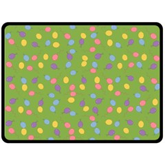 Balloon Grass Party Green Purple Double Sided Fleece Blanket (large)  by BangZart
