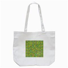Balloon Grass Party Green Purple Tote Bag (white) by BangZart