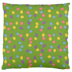 Balloon Grass Party Green Purple Large Flano Cushion Case (two Sides) by BangZart