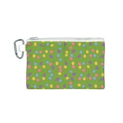Balloon Grass Party Green Purple Canvas Cosmetic Bag (s) by BangZart