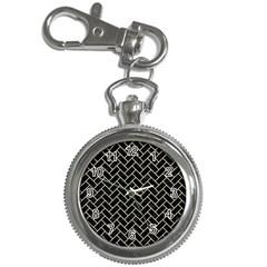 Brick2 Black Marble & Beige Linen Key Chain Watches by trendistuff