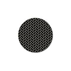 Brick2 Black Marble & Beige Linen Golf Ball Marker (4 Pack) by trendistuff