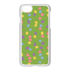 Balloon Grass Party Green Purple Apple Iphone 7 Seamless Case (white) by BangZart