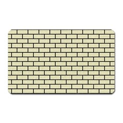 Brick1 Black Marble & Beige Linen (r) Magnet (rectangular) by trendistuff