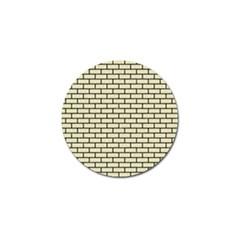 Brick1 Black Marble & Beige Linen (r) Golf Ball Marker by trendistuff