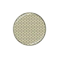 Brick1 Black Marble & Beige Linen (r) Hat Clip Ball Marker by trendistuff