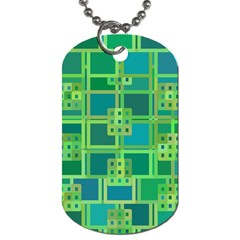 Green Abstract Geometric Dog Tag (one Side) by BangZart