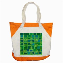 Green Abstract Geometric Accent Tote Bag by BangZart