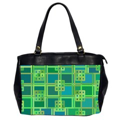 Green Abstract Geometric Office Handbags (2 Sides)  by BangZart
