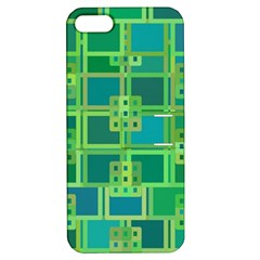 Green Abstract Geometric Apple Iphone 5 Hardshell Case With Stand by BangZart