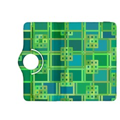 Green Abstract Geometric Kindle Fire Hdx 8 9  Flip 360 Case by BangZart