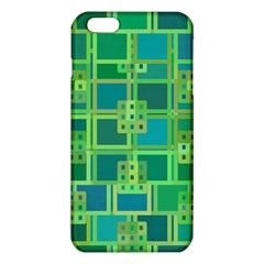 Green Abstract Geometric Iphone 6 Plus/6s Plus Tpu Case by BangZart