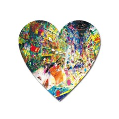 Multicolor Anime Colors Colorful Heart Magnet by BangZart