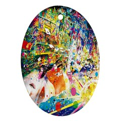 Multicolor Anime Colors Colorful Oval Ornament (two Sides) by BangZart