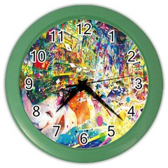 Multicolor Anime Colors Colorful Color Wall Clocks by BangZart