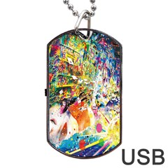 Multicolor Anime Colors Colorful Dog Tag Usb Flash (one Side) by BangZart