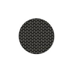 Brick1 Black Marble & Beige Linen Golf Ball Marker by trendistuff