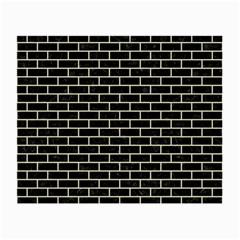 Brick1 Black Marble & Beige Linen Small Glasses Cloth by trendistuff