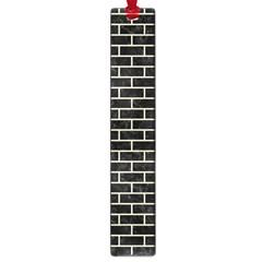 Brick1 Black Marble & Beige Linen Large Book Marks by trendistuff