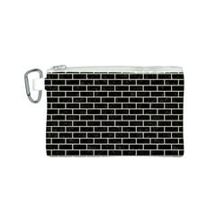 Brick1 Black Marble & Beige Linen Canvas Cosmetic Bag (s) by trendistuff
