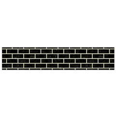 Brick1 Black Marble & Beige Linen Flano Scarf (small) by trendistuff