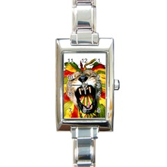 Reggae Lion Rectangle Italian Charm Watch by BangZart