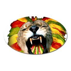 Reggae Lion Oval Magnet by BangZart