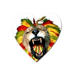 Reggae Lion Heart Magnet by BangZart