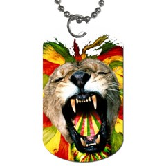 Reggae Lion Dog Tag (two Sides) by BangZart
