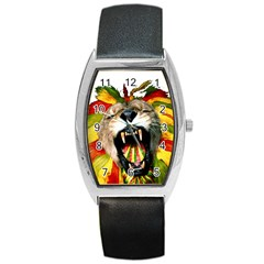 Reggae Lion Barrel Style Metal Watch by BangZart