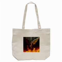 Angels Wings Curious Hell Heaven Tote Bag (cream) by BangZart