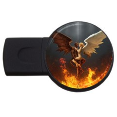 Angels Wings Curious Hell Heaven Usb Flash Drive Round (4 Gb) by BangZart