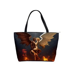 Angels Wings Curious Hell Heaven Shoulder Handbags by BangZart