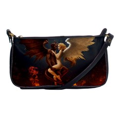 Angels Wings Curious Hell Heaven Shoulder Clutch Bags by BangZart