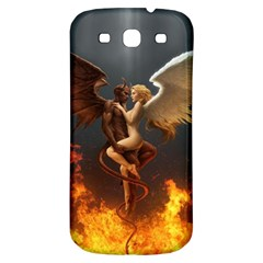 Angels Wings Curious Hell Heaven Samsung Galaxy S3 S Iii Classic Hardshell Back Case by BangZart