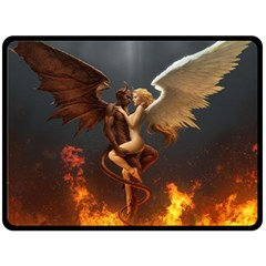 Angels Wings Curious Hell Heaven Double Sided Fleece Blanket (large)  by BangZart