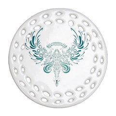 Angel Tribal Art Round Filigree Ornament (two Sides) by BangZart