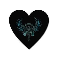 Angel Tribal Art Heart Magnet by BangZart