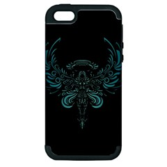 Angel Tribal Art Apple Iphone 5 Hardshell Case (pc+silicone) by BangZart