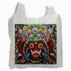 Wood Sculpture Bali Logo Recycle Bag (two Side)  by BangZart