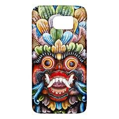 Wood Sculpture Bali Logo Galaxy S6 by BangZart
