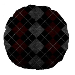 Wool Texture With Great Pattern Large 18  Premium Flano Round Cushions by BangZart