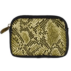 Yellow Snake Skin Pattern Digital Camera Cases by BangZart