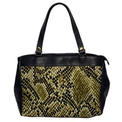 Yellow Snake Skin Pattern Office Handbags by BangZart