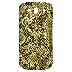 Yellow Snake Skin Pattern Samsung Galaxy S3 S Iii Classic Hardshell Back Case by BangZart