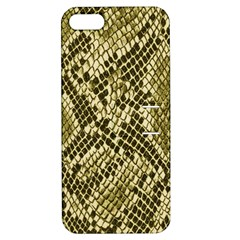 Yellow Snake Skin Pattern Apple Iphone 5 Hardshell Case With Stand by BangZart