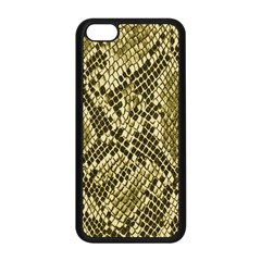 Yellow Snake Skin Pattern Apple Iphone 5c Seamless Case (black) by BangZart