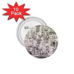 White Technology Circuit Board Electronic Computer 1 75  Buttons (10 Pack) by BangZart